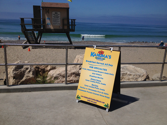A-frame and sidewalk signs San Clemente CA