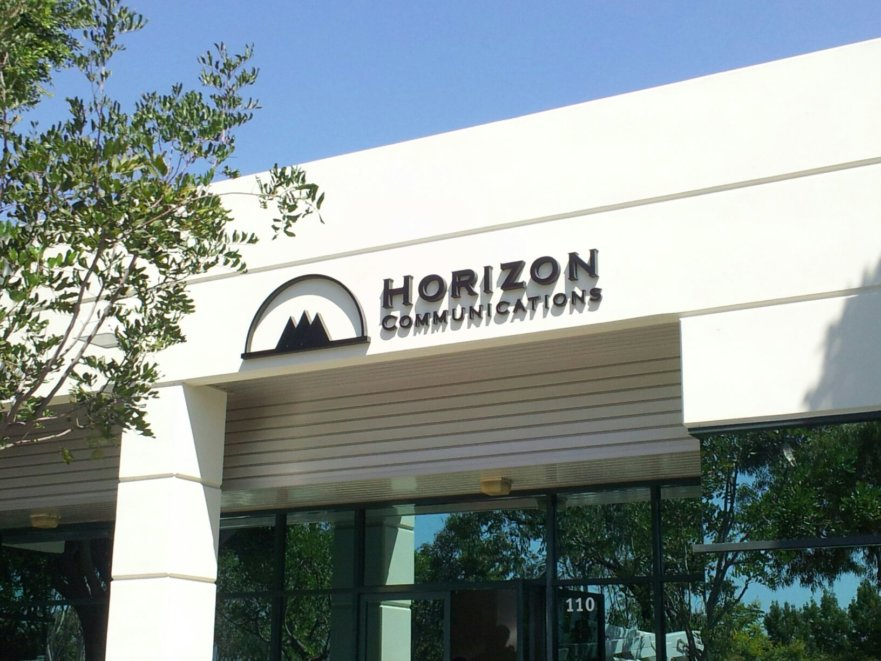 Horizon Communications Lobby Signs Project from Signs from Starfish Signs and Graphics in Orange County