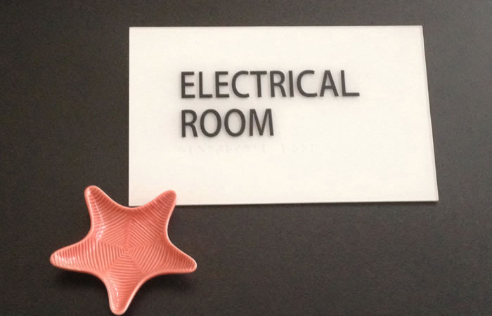 Electrical Room Sign Project from Signs from Starfish Signs and Graphics in Orange County