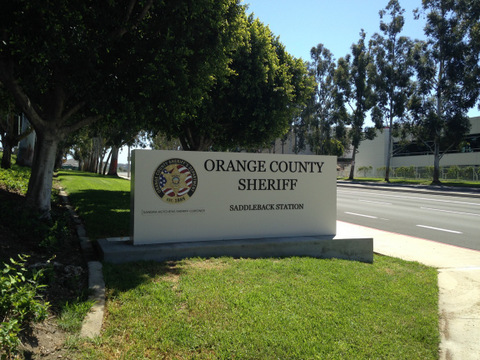 Monument Sign for Orange County Sheriff