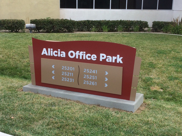 Office Park Monument Signs Laguna Beach CA