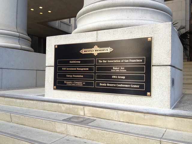 Bronze Plaques for Monument Signs San Francisco
