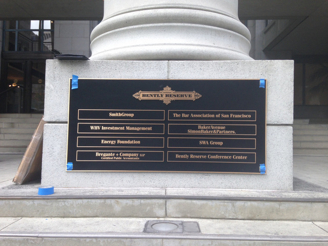 Brass Plaque Monument Signs San Francisco