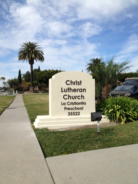 Monument Sign Letters for Churches in San Clemente CA