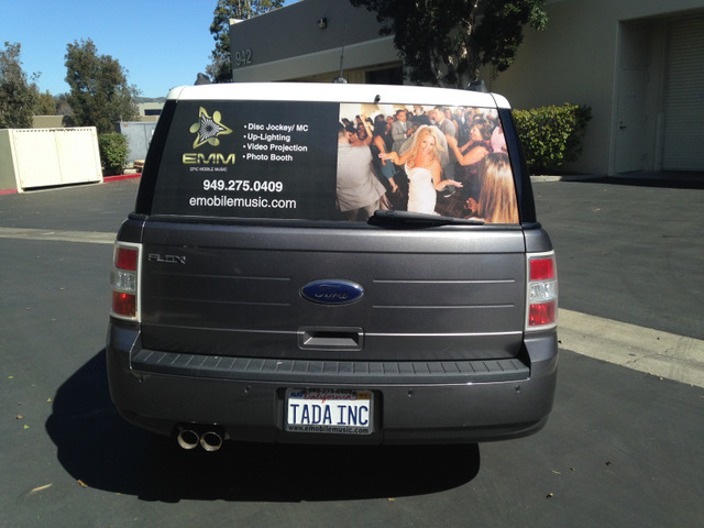 Advertise with vinyl window perf in South Orange County