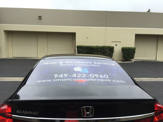 Vehicle vinyl lettering South Orange County CA