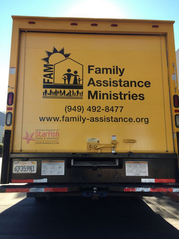 Truck Graphics for Family Assistance Ministries