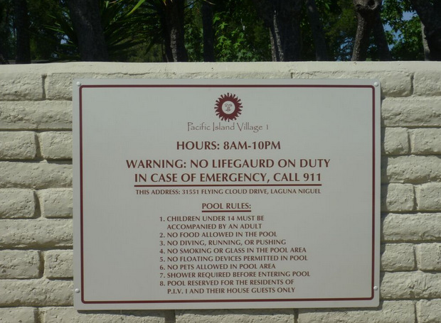 Do You Have Pool Safety Signs for Your Hotel or Community?