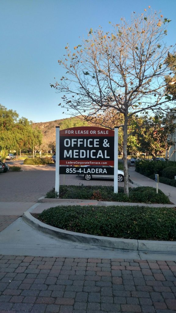 Commercial Property Real Estate Signs San Clemente CA