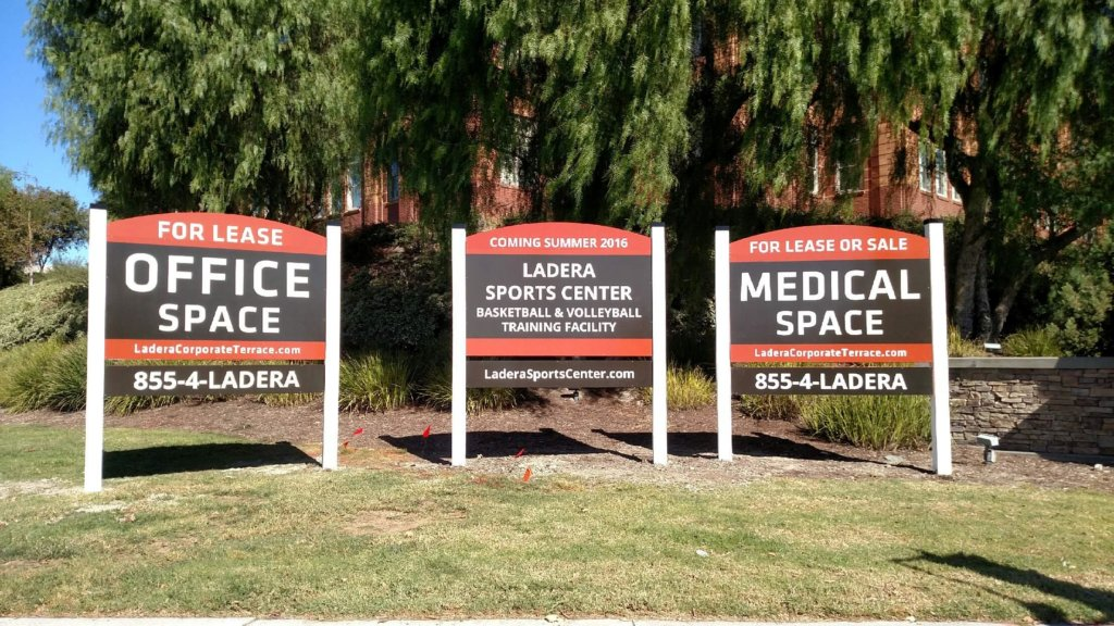 Commercial Office Space Signs San Clemente CA