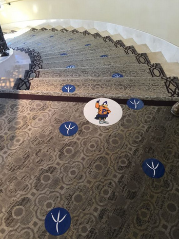 How to use floor graphics in San Clemente CA