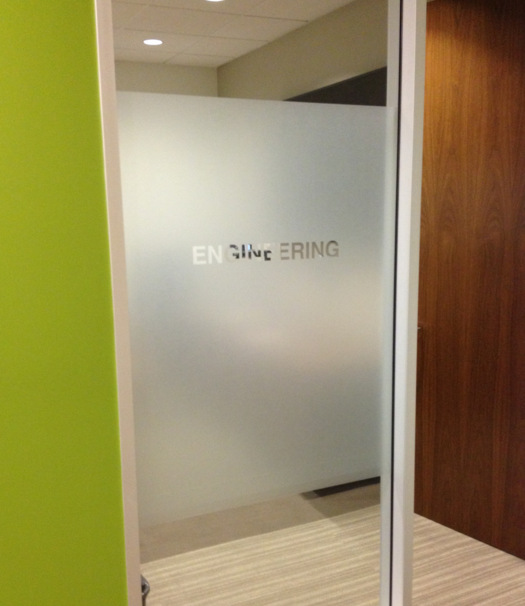 Frosted vinyl window graphics San Clemente CA