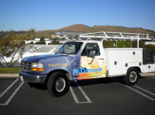 Partial Graphics and Truck Lettering San Clemente CA