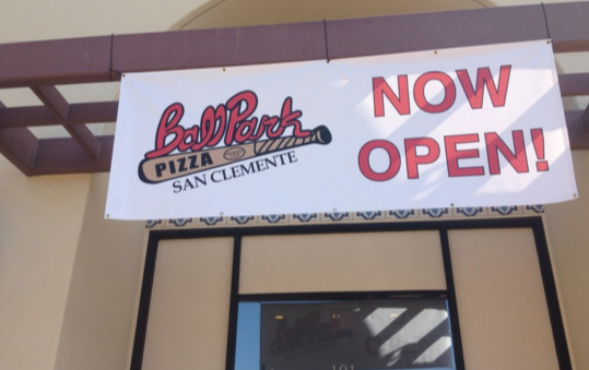 Now Open Banners for San Clemente CA