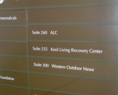 Office Directory Signs in San Clemente CA