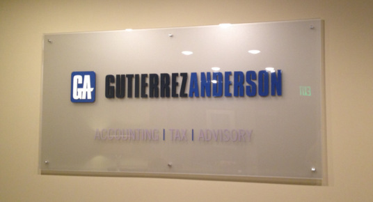 Acrylic Lobby Signs in San Clemente CA
