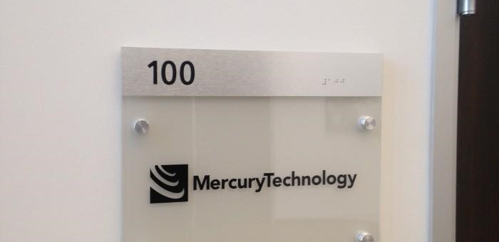Mercury Technology interior navigation signage
