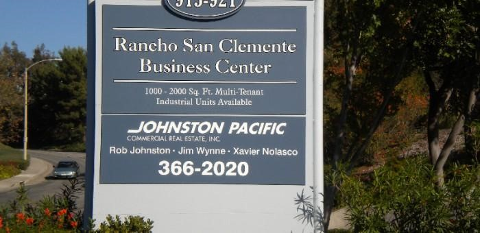 Rancho San Clemente Business Center monument sign