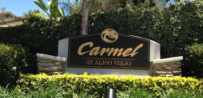 Carmel at Aliso Viejo monument sign
