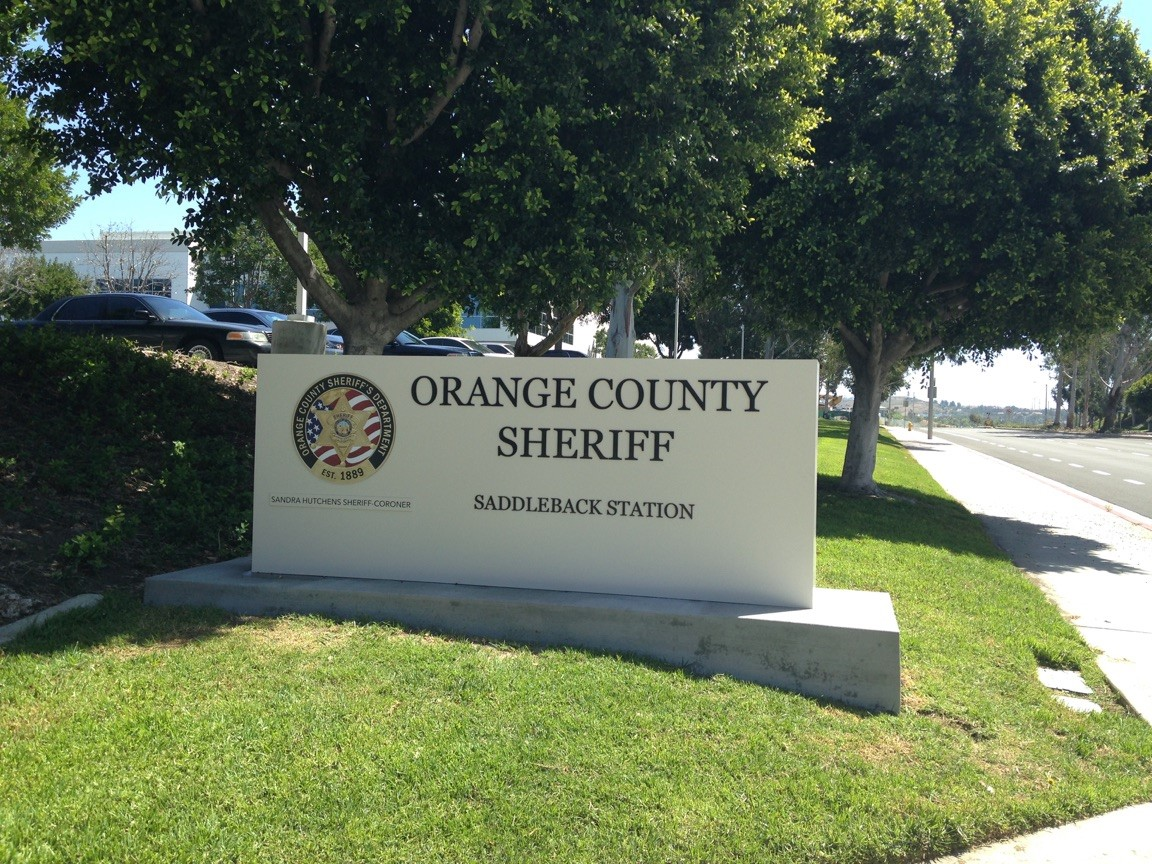 Orange County Sheriff monument sign