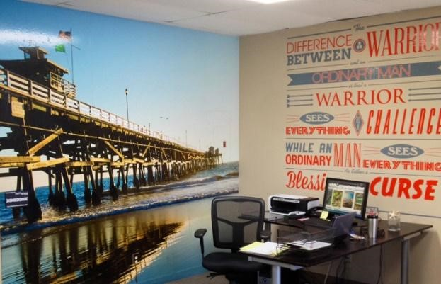 pier ocean wall mural empowering words wall mural
