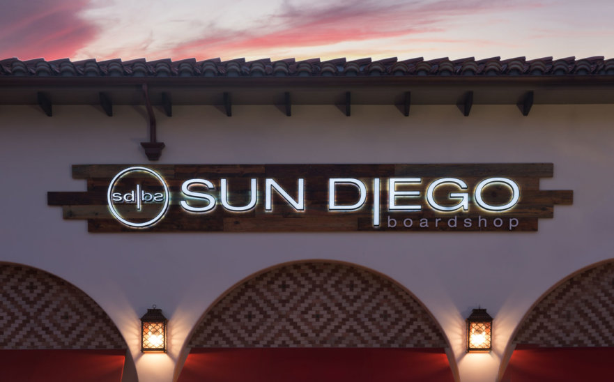 Sun Diego Building Sign from Starfish Signs & Graphics
