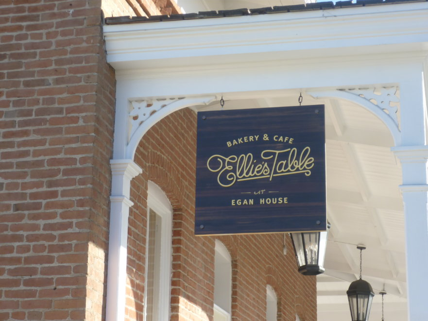 ellies table cnc routed historic exterior sign