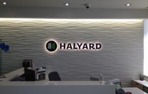 Halyard Lobby Sign from Starfish Signs & Graphics