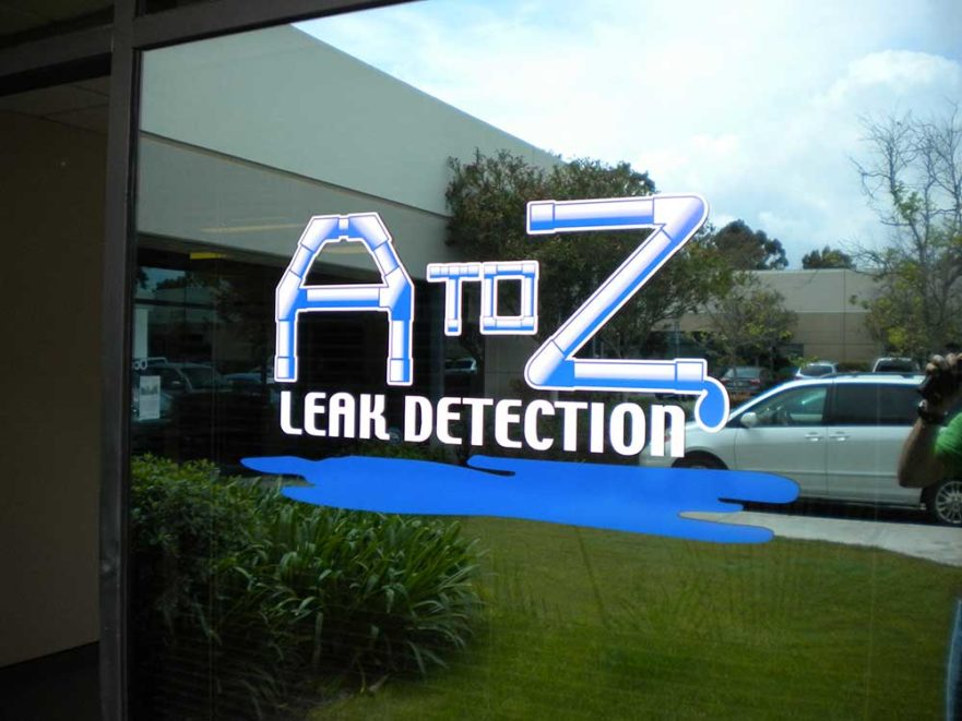 A to Z Window Signs from Starfish Signs & Graphics