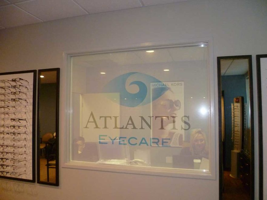 Atlantis Eyecare - Window Signs from Starfish Signs & Graphics