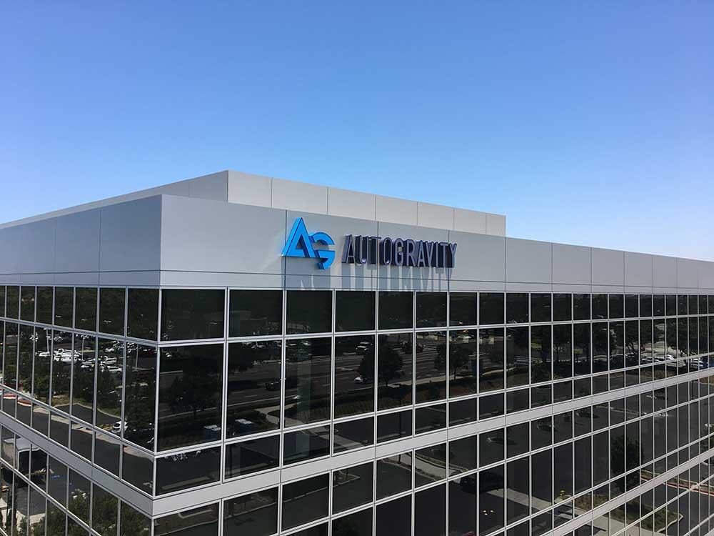 AutoGravity Building Signs from Starfish Signs & Graphics