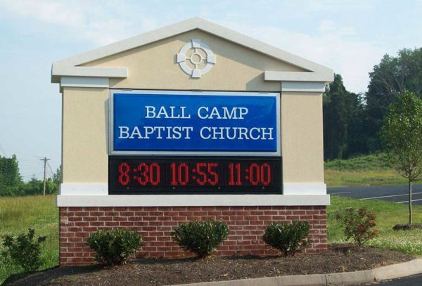 Ball Camp Baptist Church Monument Signs from Starfish Signs & Graphics