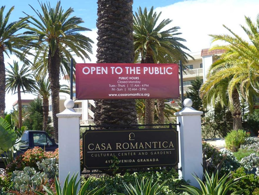 Casa Romantica Monument Signs from Starfish Signs & Graphics