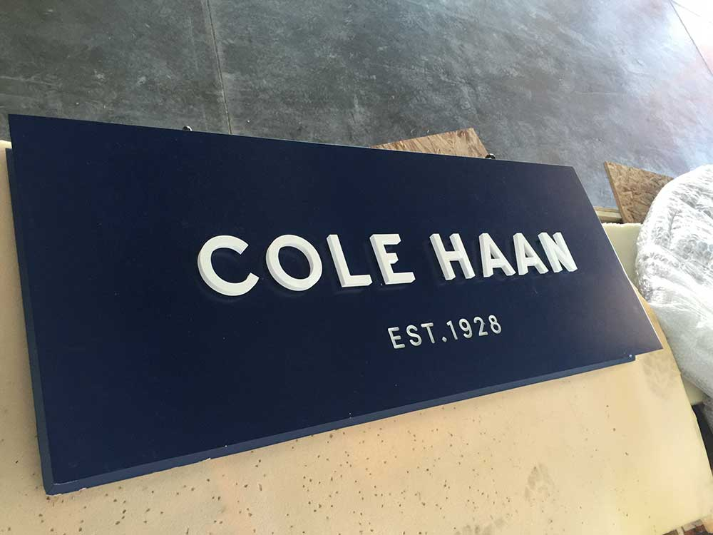 Cole Haan sign from starfish signs & graphics