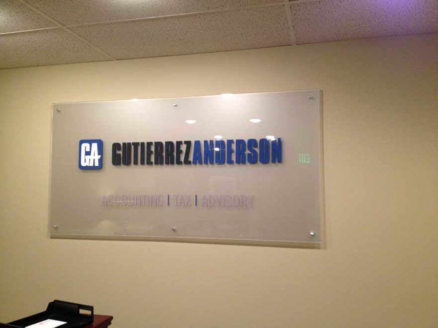 Gutierrez Anderson - Lobby Sign from Starfish Signs & Graphics