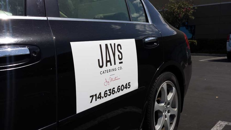 Jay's Catering - Vehicle Sign from Starfish Sings & Graphics