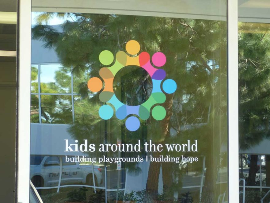 Kids Around The World - Window Glass graphic from Starfish Signs & Graphics
