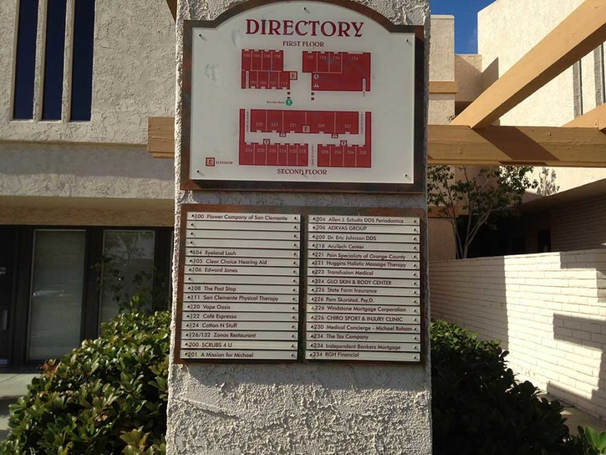 Directory Monument Sign from Starfish Signs & Graphics