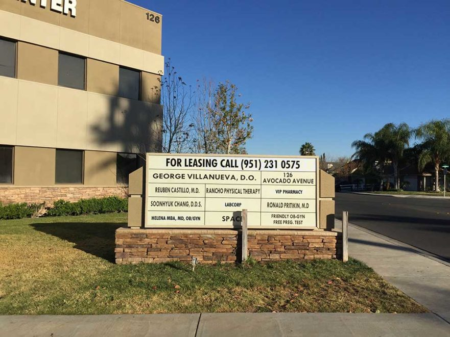Level Leasing Call - Monument Sign from starfish Signs & graphics