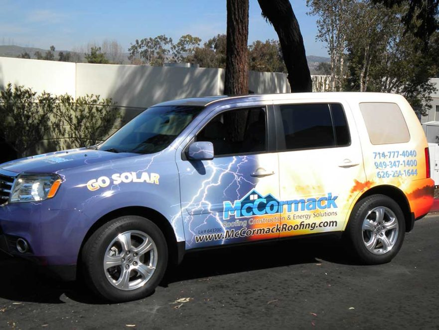 McCormack Roofing - Vehicle Graphics from starfish signs & graphics