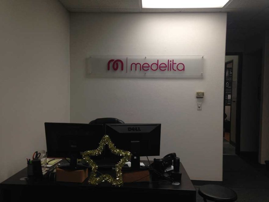 medelita lobby signs from starfish signs & graphics