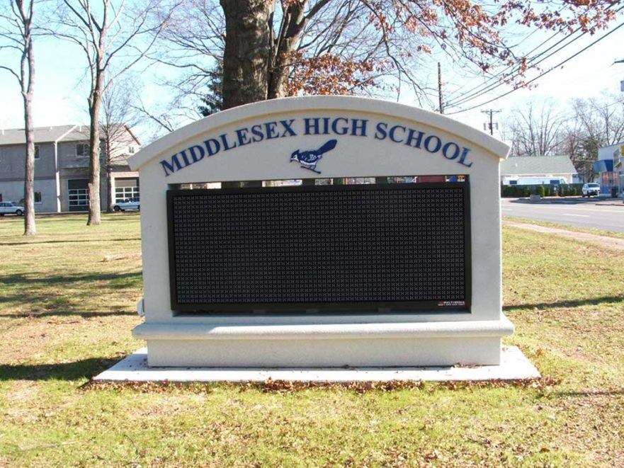 Middlesex high school monument sign from starfish signs & graphics