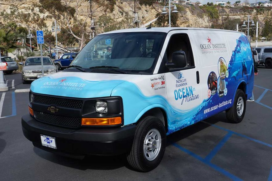 Ocean Institue Vehicel graphics from starfish signs & graphics