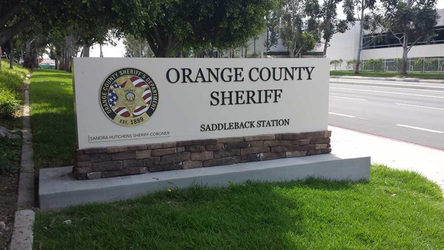OCSD Monument sign from starfish signs & graphics