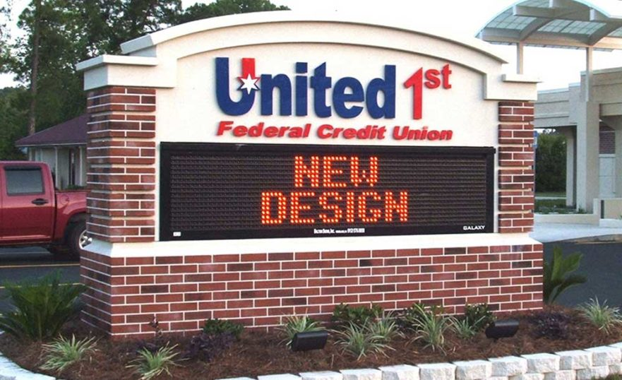 United Federal Credit Union - Monument signs from starfish signs & graphis