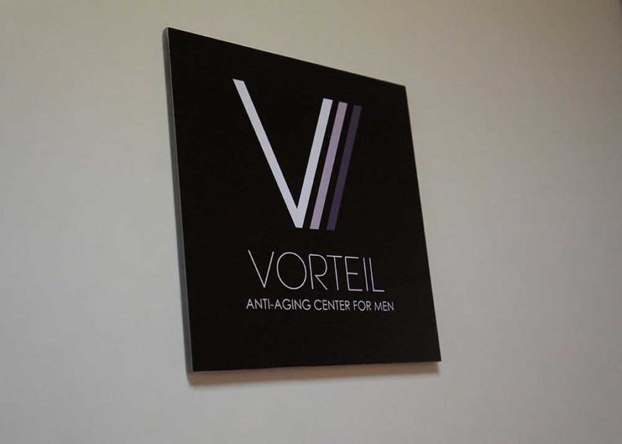 Vorteil Lobby sign from starfish signs & graphics
