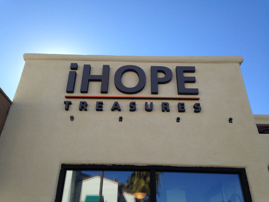 iHope building sign from starfish signs & graphics