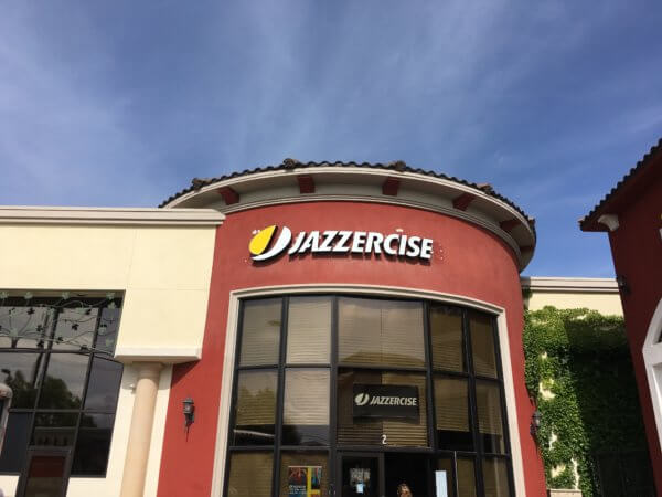 Jazzercise - Building sign from starfish signs & graphics
