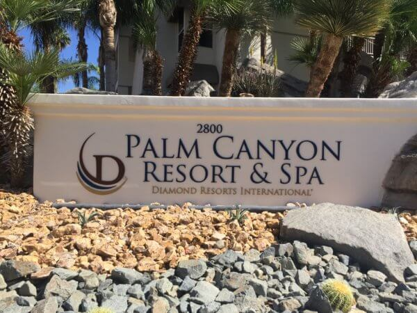 Palm Canyon Resort & Spa Monument Sign