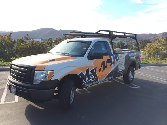 Vehicle graphics from starfish signs & graphics